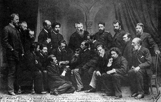 Members of the Peredvizhniki, 1885, photo (wikipedia: public domain)