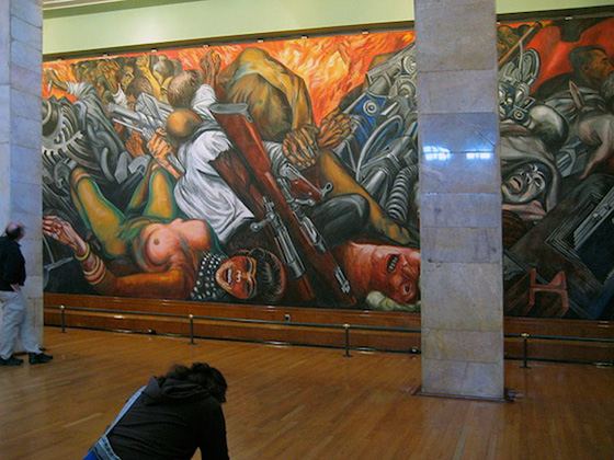 José Clemente Orozco, Catharsis (partial view), 1934 (Museum of the Palace of Fine Arts, Mexico City, photo: ryan griffis)