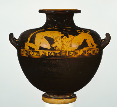 how to make red figure vase painting