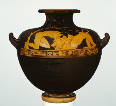 Greek wrestling vase