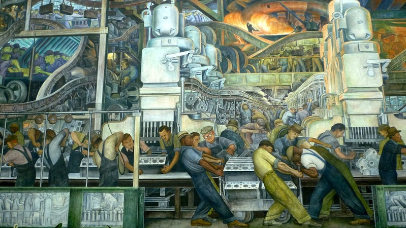 Rivera detroit industry murals article khan academy for Diego rivera detroit mural