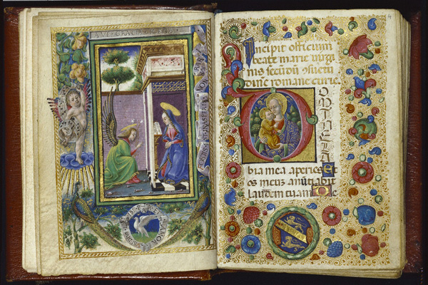 Illuminated Manuscript Page Initial A Christ in Majesty Fine Art Print