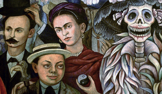 Rivera dream of a sunday afternoon in alameda central for Diego rivera lenin mural