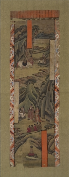 Scenes from the Life of the Buddha, ink and colors on silk, from Cave 17, Mogao, near Dunhuang, Gansu province, China, Tang dynasty, 8th-early 9th century © The Trustees of the British Museum