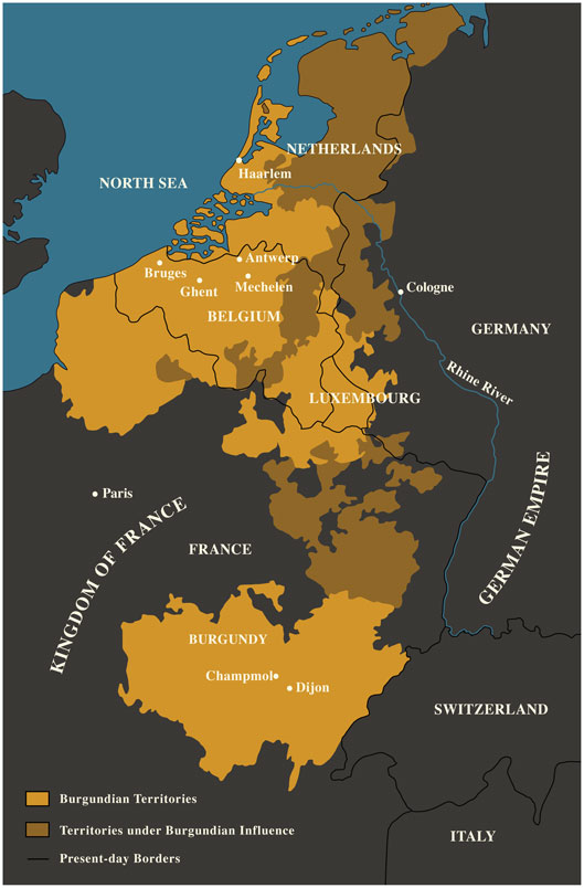 The Burgundian Netherlands (map: National Gallery of Art)