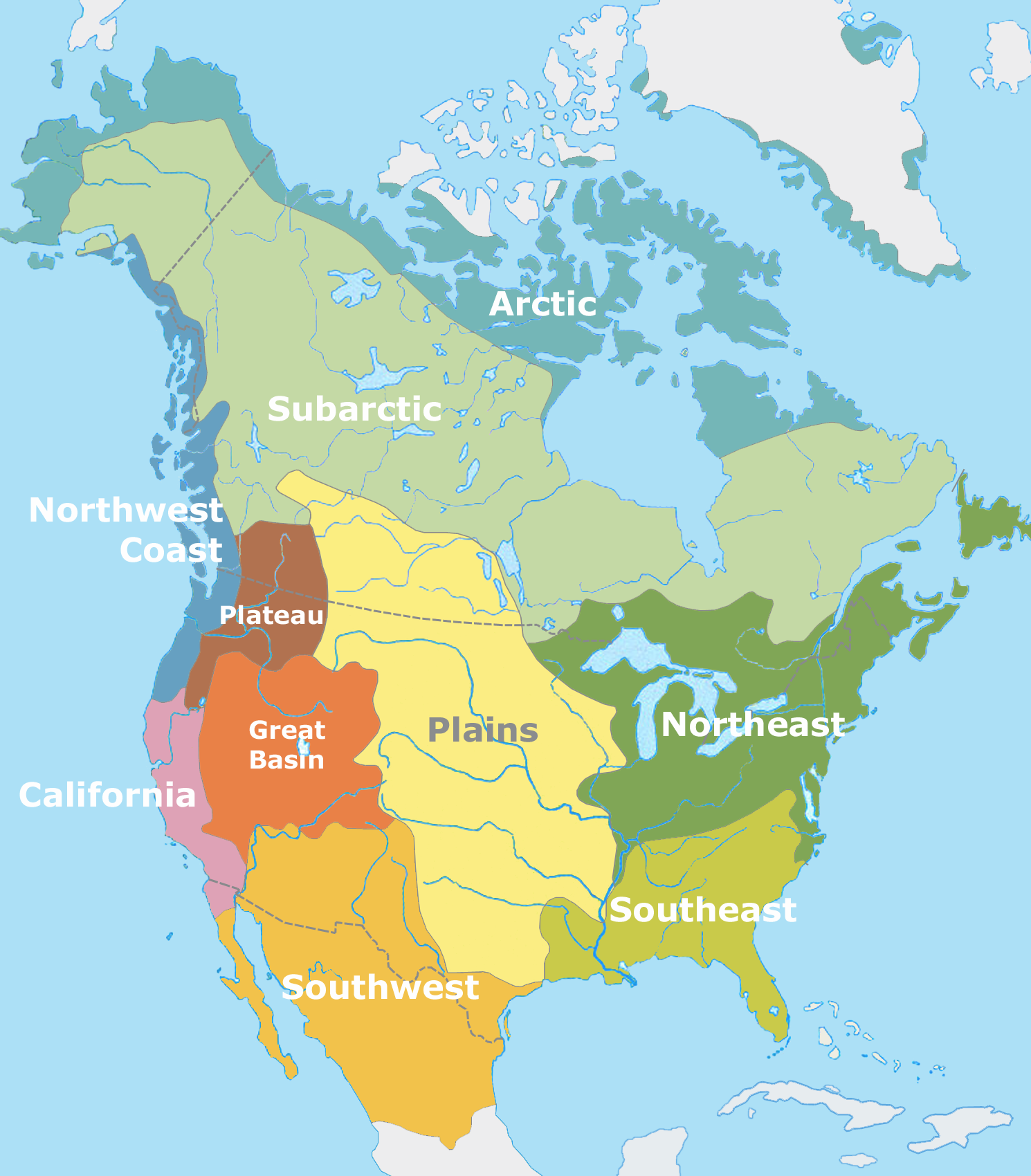 Native American Map Before Colonization.Lesson Summary Native American Societies Before Contact Article
