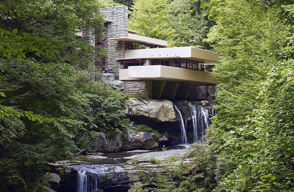 Frank Lloyd Wright,  Fallingwater (aka Kaufmann Residence), Bear Run, Pennsylvania (photo: Carol M. Highsmith archive, Library of Congress #LC-DIG-highsm-04261)