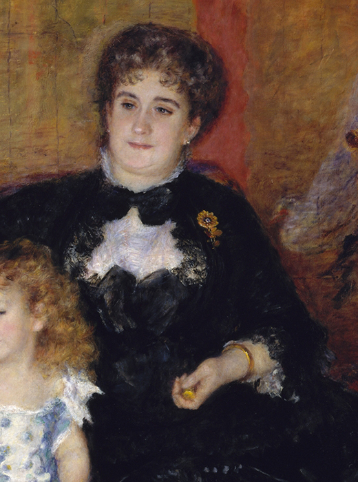 WONDERFULITEMS Madame Georges CHARPENTIER and HER Children Girls and Dog 1878 French Painting by Renoir 11 X 14 Image Size REPRO Canvas Rolled UP.