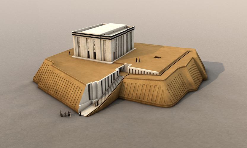 Digital Reconstruction Of The White Temple Uruk Modern Warka C 3517