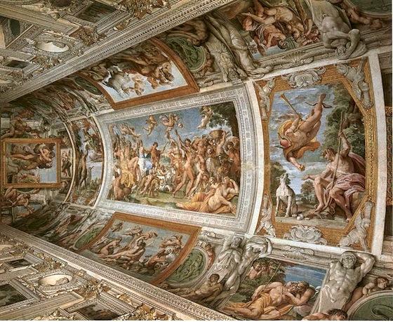 Annibale Carracci, Farnese Gallery Ceiling, 1597-1608, fresco (Palazzo Farnese, Rome)