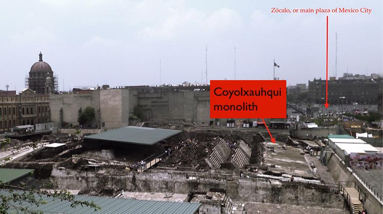View of the Templo Mayor excavations today. Photo by Lauren Kilroy-Ewbank