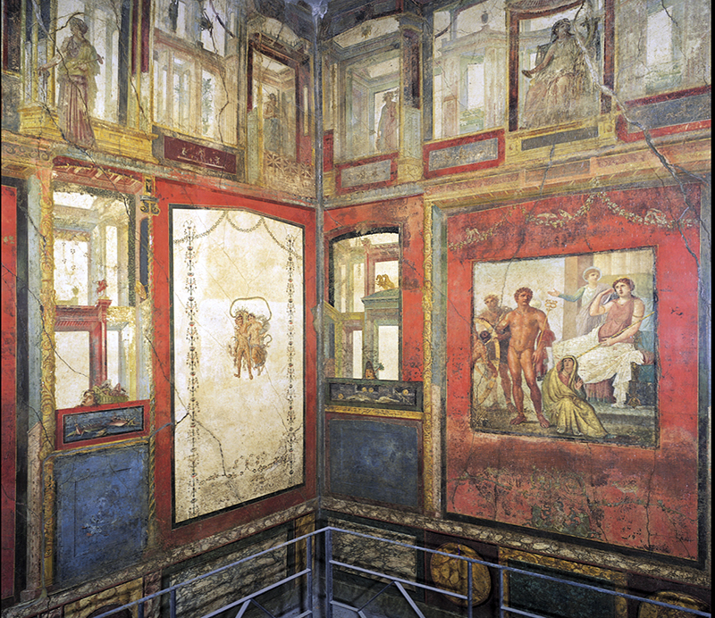 Example of Fourth Style painting, Ixion Room, House of the Vetii, Pompeii, 1st century C.E.