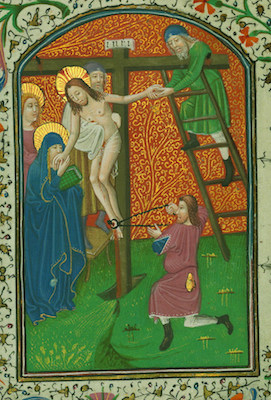 Book of Hours, Deposition, Walters Manuscript W.246, fol. 25v (The Walters Art Museum)