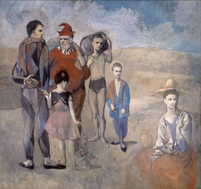 Pablo Picasso, Family of Saltimbanques, 1905, oil on canvas, 212.8 x 229.6 cm (National Gallery of Art, Washington, D.C.)