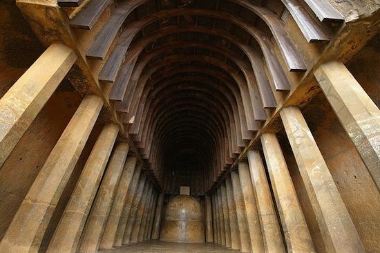 Chaitya (monastic monument hall) at Bhaja, India, 1st century B.C.E. (photo: Andrea Kirkby)