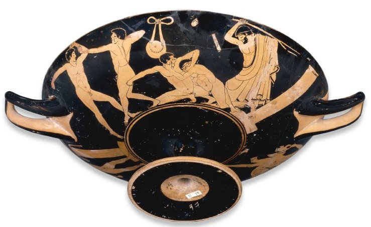 Red-figured cup, attributed to the Foundry Painter, 490-80 B.C.E., Attica © The Trustees of the British Museum.