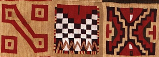 All-T'oqapu Tunic, Inka, 1450–1540, camelid fiber and cotton, 90.2 x 77.15 cm (Dumbarton Oaks, , Washington D.C.)