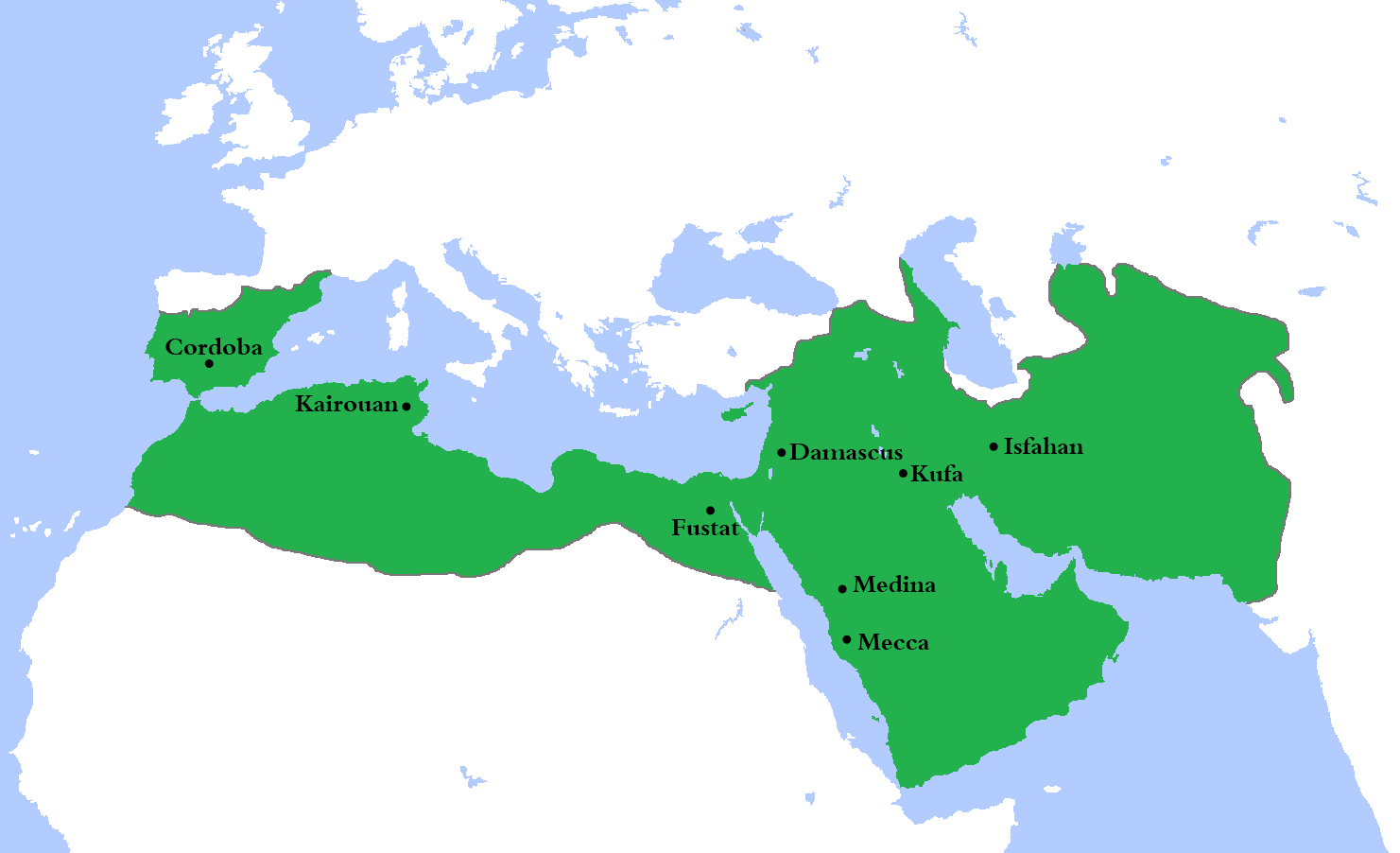Islamic Empire Map The rise of Islamic empires and states (article) | Khan Academy