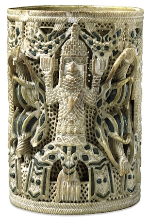Ivory armlet, Edo peoples, c. 15th-16th century, 10.5 cm in diameter, Benin, Nigeria, © Trustees of the British Museum