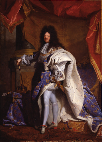 Hyacinthe Rigaud, King Louis XIV, 1702, oil on canvas, 313 x 205 cm (Versailles)