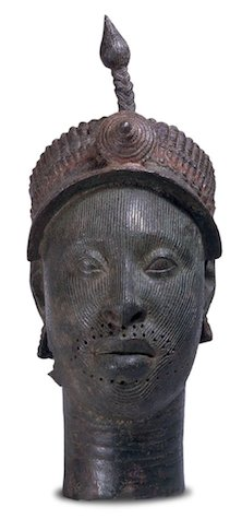 The Ife Head, c. 14th-15th century, brass, 35 cm high, Ife, Africa, © Trustees of the British Museum