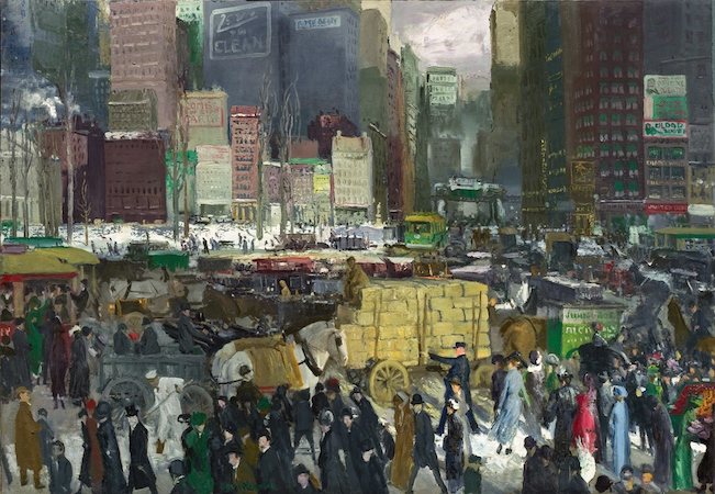 George Wesley Bellows. New York. 1911. Oil on canvas. 42 x 60 in / 106.7 x 152.4 cm (National Gallery of Art, Washington D.C. )