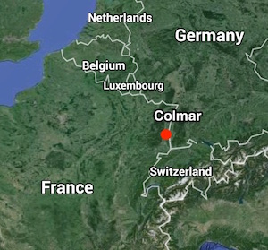 Map showing location of Colmar