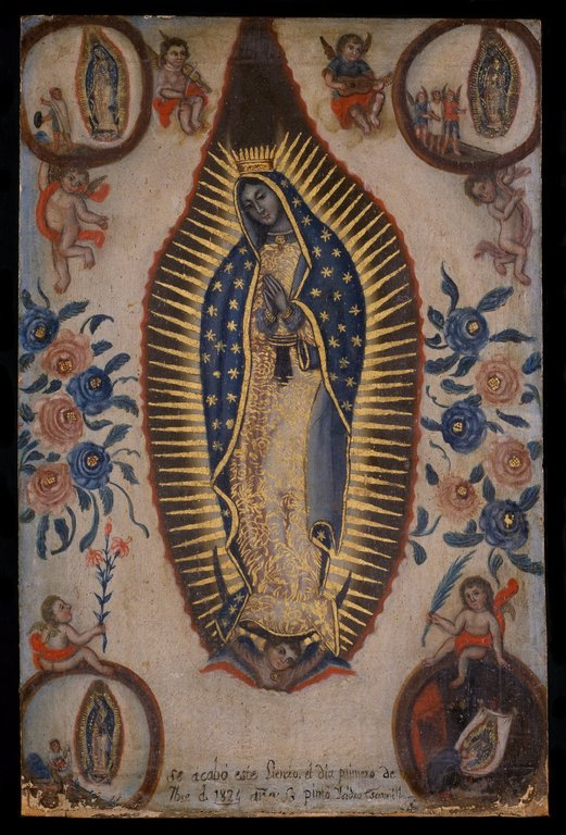Isidro Escamilla, Virgin of Guadalupe, 1824, oil on canvas, 58.1 x 38.1cm (Brooklyn Museum)