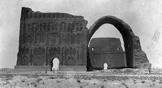Iwan, Ctesiphon, Iraq, c. 560 (photo: Edwin Newman Album AL4-B, page 3, San Diego Air and Space Museum Archive
