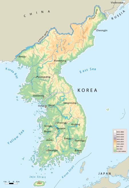 Map Of Asia Korean Peninsula.Introduction To Korea Article Korea Khan Academy