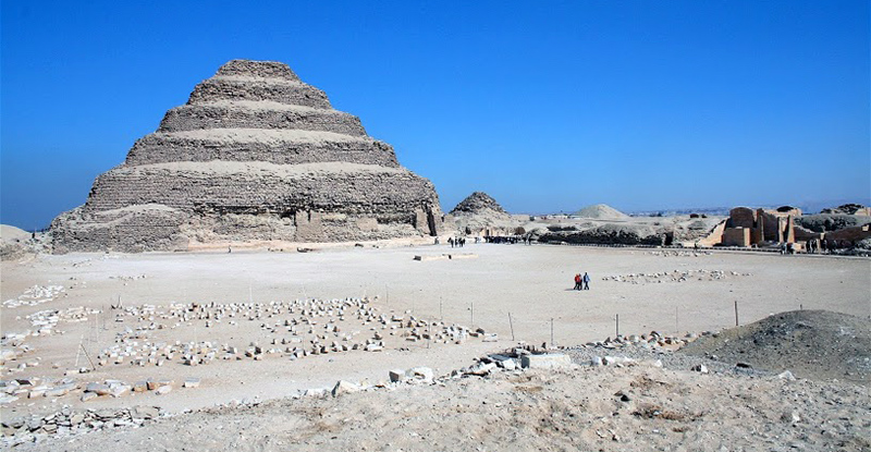 Step Pyramid of Djoser at Saqqara, Old Kingdom, c. 2675-2625 B.C.E. Photo: Dr Amy Calvert