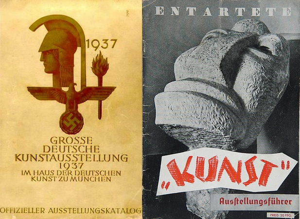 1937 Great German Art Exhibition and Degenerate Art Exhibition catalogue covers