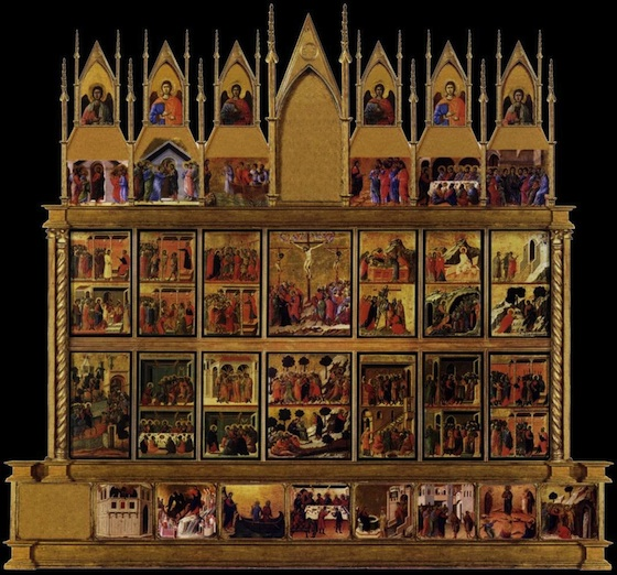 Duccio, Maesta (reconstruction of back), 1308-11 (Museo dell'Opera Metropolitana del Duomo, Siena)
