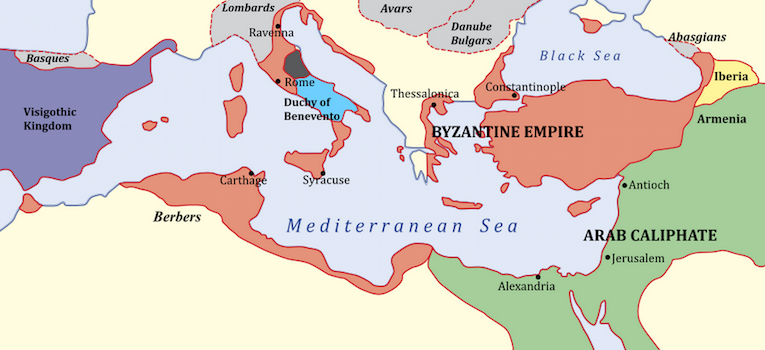 Byzantine Empire in 650 C.E.