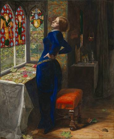 Sir John Everett Millais, Mariana, 1851, oil on mahogany 59.7 49.5 cm (Tate)