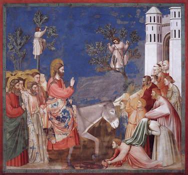 Giotto, The Entry of Christ into Jerusalem, c. 1305, fresco, 200 x 185 cm (Arena Chapel, Padua)