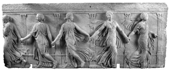 Borghese Dancers, c. 2nd- 3rd centuries, marble, 72 x 188 cm (Louvre)