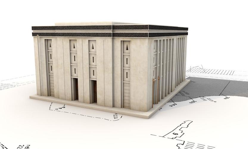 Digital reconstruction of the White Temple, Uruk (modern Warka), c, 3517-3358 B.C.E. © artefacts-berlin.de; Scientific material: German Archaeological Institute