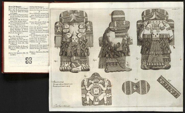 Imagem publicada no livro de Antonio León y Gama de 1792