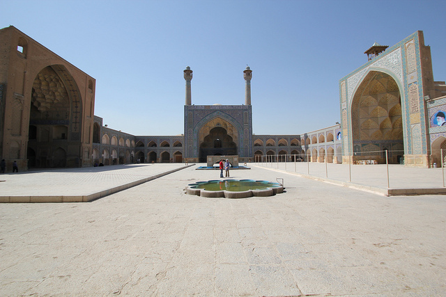 Courtyard, The Great Mosque or Masjid-e Jameh of Isfahan