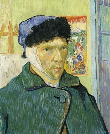 Vincent van Gogh, Self-Portrait with Bandaged Ear, 1889, oil on canvas, 60 x 49 cm (Courtauld Galleries, London)
