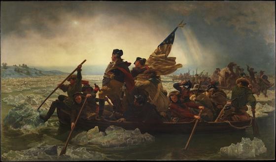 Emanuel Leutze, Washington Crossing the Delaware, 1851, oil on canvas, 378.5 x 647.7 cm (Metropolitan Museum of Art)