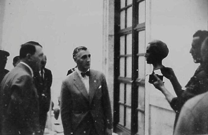 Hitler and Ziegler judging the Great German Art Exhibition, 1937