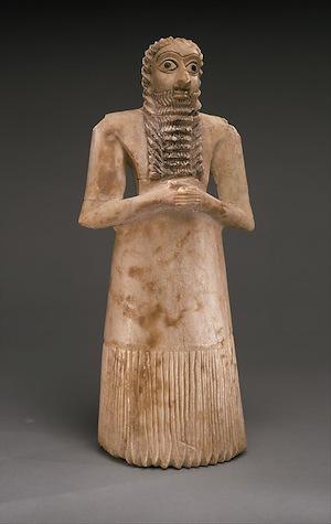 Standing Male Worshipper, c. 2900-2600 B.C.E., Metropolitan Museum of Art