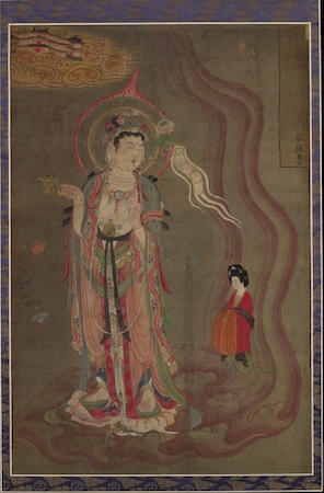 Bodhisattva as Guide of Souls, ink and colors on a silk banner, from Cave 17, Mogao, near Dunhuang, Gansu province, China, Five Dynasties, early 10th century, © Trustees of the British Museum