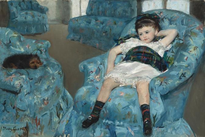 Mary Cassatt, Little Girl in a Blue Armchair, 1878, oil on canvas, 89.5 x 129.8 cm (National Gallery of Art, Washington D.C.)