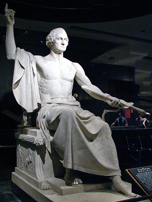 Horatio Greenough, George Washington, 1840, marble, 136 x 102 inches, National Museum of American History (photo: Steve Fernie, CC BY-NC 2.0)