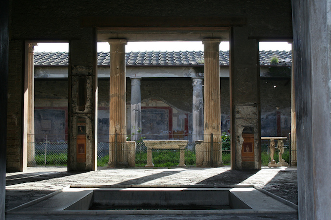 View through the atrium to the peristyle