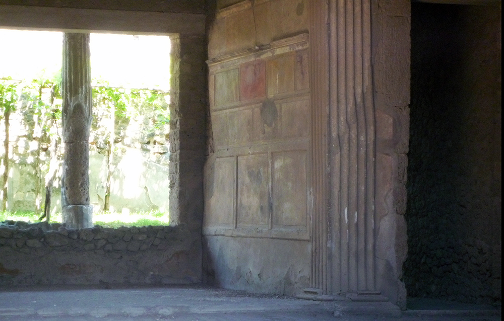 Example Of First Style Painting House Sal Pompeii Built 2nd Century