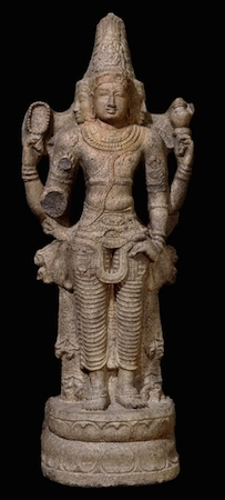 Stone figure of Brahma, Chola dynasty, c. 1110-1150, from Tamil Nadu, southern India, 131 cm high, © Trustees of the British Museum
